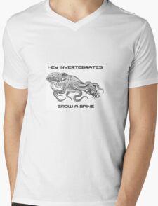 Hey Invertebrates!  Grow a Spine Mens V-Neck T-Shirt