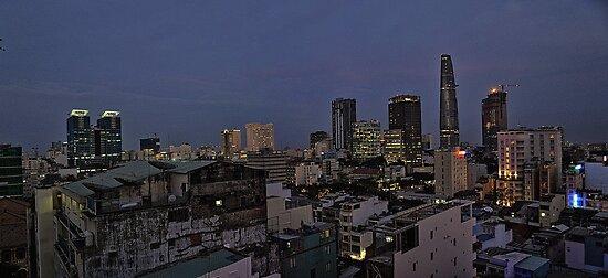 Vietnam Saigon Ho Chi Minh City by night A by MARKATMELB