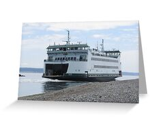 Washington State Ferry Salish  Greeting Card