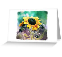 Grungy Sunflower Greeting Card
