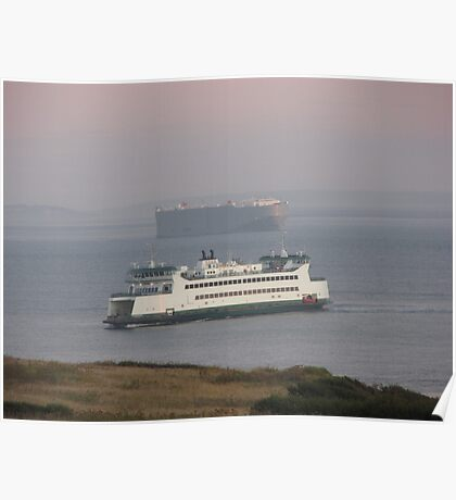 Washington State Ferry Chetzemoka arriving Keystone Poster