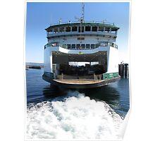 Washington State Ferry Salish departing Keystone Poster