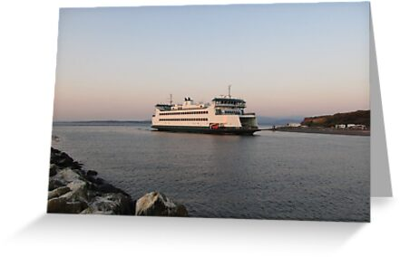 Washington State Ferry Salish arriving Keystone by Zack Heistand