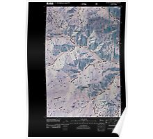 USGS Topo Map Washington State WA Hungry Mountain 20110427 TM Inverted Poster