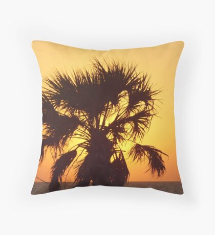Clearwater beach at sunset Throw Pillow