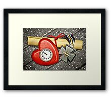 Brains, Heart, & Courage Framed Print