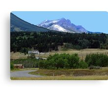 Crowsnest Pass and Mountain Canvas Print