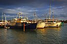 Fishing Boats at Lakes Entrance by Darren Stones