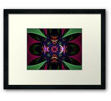 Woven Framed Print