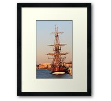 Barquentine Endeavour replica Framed Print