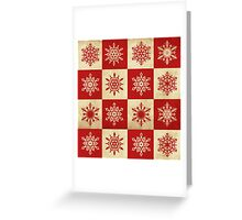 Snowflakes in Squares Greeting Card