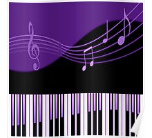 Black & Purple Musical Melody Poster