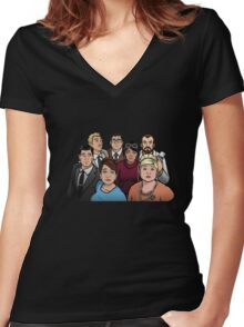 Spy town Women's Fitted V-Neck T-Shirt