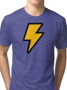 Cartoon Lightning Bolt pattern Tri-blend T-Shirt