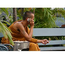 """Cool Hand Monk"", Bangkok Photographic Print"