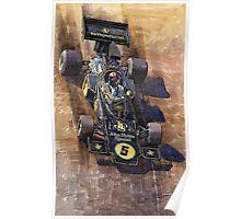 Lotus 72 D Spanish GP 1972 Emerson Fittipaldi winner Poster