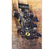 Lotus 72 D Spanish GP 1972 Emerson Fittipaldi winner Photographic Print