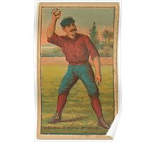 Benjamin K Edwards Collection Curt Welch St Louis Browns baseball card portrait Poster