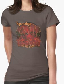 Spooky Cats Womens Fitted T-Shirt