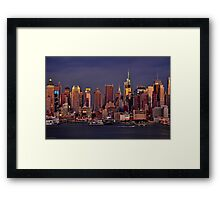Twilight in New York Framed Print