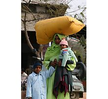 """""""The Pink Hat"""", India Photographic Print"""