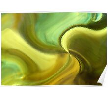 CHARTREUSE SERIES Abstract VII Poster