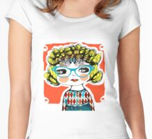 cool girls wear glasses -- stella Women's Fitted Scoop T-Shirt