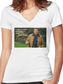 Rick Perry Funny 2 Women's Fitted V-Neck T-Shirt