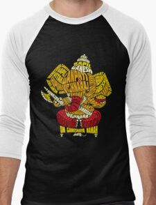 Ganesha Typo Men's Baseball ¾ T-Shirt