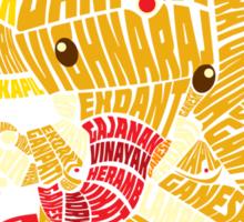 Ganesha Typo Sticker