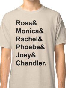 Friends Jetset Tee Black Writing Classic T-Shirt