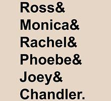Friends Jetset Tee Black Writing Unisex T-Shirt