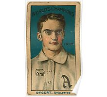 Benjamin K Edwards Collection Jimmy Dygert Philadelphia Athletics baseball card portrait Poster