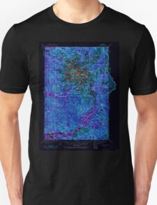 USGS Topo Map Washington State WA Mt Rainier 242666 1924 125000 Inverted Unisex T-Shirt