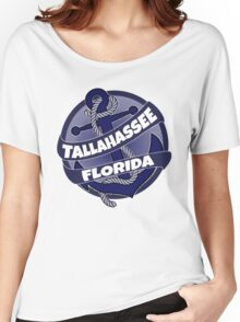 Tallahassee Florida anchor swirl Women's Relaxed Fit T-Shirt