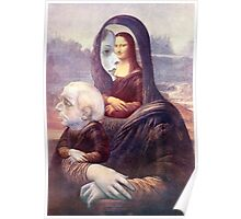 Mona with Christ Child 2. Poster