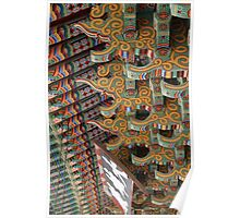 Painted Roof Brackets, Beomeosa Temple Poster