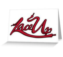 Lace Up Greeting Card