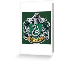 Slytherin Crest - Harry Potter Greeting Card