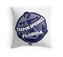 Tarpon Springs Florida anchor swirl Throw Pillow