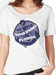 Tarpon Springs Florida anchor swirl Women's Relaxed Fit T-Shirt