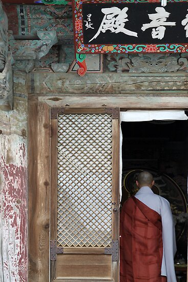 Buddhist Monk, Beomeosa Temple by Jane McDougall