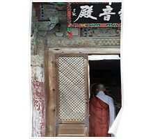Buddhist Monk, Beomeosa Temple Poster