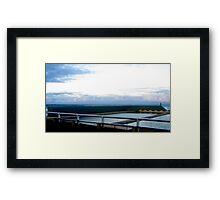 Newcastle Baths Horizon Framed Print