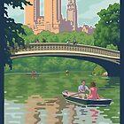 Bow Bridge in Central Park by mitchfrey