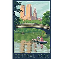 Bow Bridge in Central Park Photographic Print