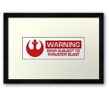 Star Wars Rebel Warning Label Framed Print