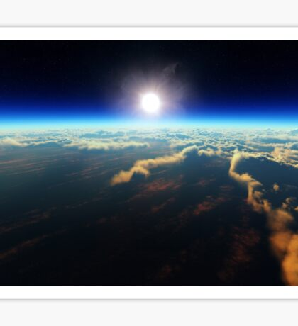 Earth sunrise from outer space Sticker