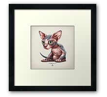 Cat-a-clysm: Sphynx kitten - Classic Framed Print