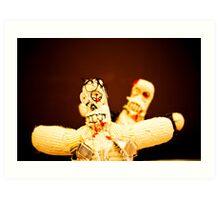 Zombie Doll Attack-3 Art Print